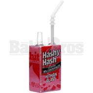"""HITMAN GLASS X LIQUID GLASS WP JUICE BOX 8"""" HASHY HASH MALE 14MM"""