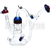 "LIQUID GLASS WP RECYCLER FUNNEL INLINE PERC CARTOON DESIGN 9"" CLEAR MALE 14MM"