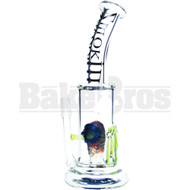 """SMOKIN MIRRORZ WP ZOMBIE PERC VAPOR RIG WITH SLIME DRIPS 8"""" CLEAR MALE 14MM"""