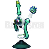 "WP AMG RECYCLER HONEYCOMB PERC MONSTER ART 11"" GREEN MALE 18MM"