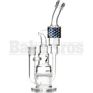 "MAVERICK WP HONEYCOMB PERC RECYCLER 15"" CLEAR MALE 14MM"