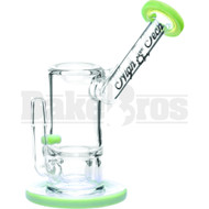 "HIGH TECH WP SLOT PERC W/ WAX DISH 6"" SLIME GREEN MALE 14MM"