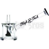 "HIGH TECH WP FIXED DOWNSTEM PERC MINI RIG 4"" BLACK MALE 10MM"