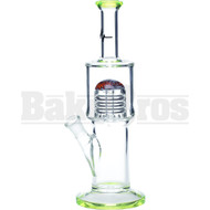"PULSE GLASS WP THE SLIM JIM MALE JOINT DOWNSTEM 11"" SLIME GREEN FEMALE 14MM"