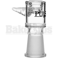 PULSE FEMALE BOWL JOINT ASTERIK GLASS SCREEN W/ TWISTED HANDLE CLEAR 14MM