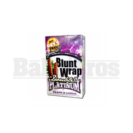 DOUBLE!! PLATINUM CIGAR WRAPS 2 PER PACK GRAPE Pack of 25