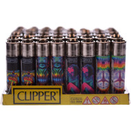 """CLIPPER LIGHTER 3"""" TIE DYE TRIPPY2 TRIPPY2 ASSORTED Pack of 48"""