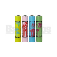 "CLIPPER LIGHTER 2.5"" PALM TREE DESIGN ASSORTED COLORS Pack of 1"