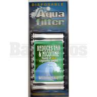 AQUA FILTER 10 DISPOSABLE CIGARETTE FILTERS ASSORTED Pack of 10 STANDARD