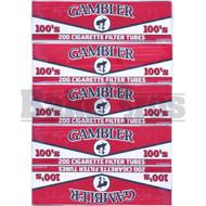 GAMBLER CIGARETTE FILTER TUBES 200 PER PACK 100s UNFLAVORED Pack of 3
