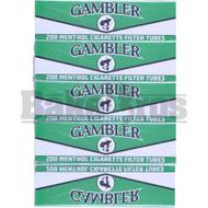 GAMBLER CIGARETTE FILTER TUBES 200 PER PACK MENTHOL NATURAL Pack of 1