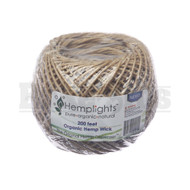 HEMPLIGHTS ORGANIC HEMP WICK SPOOL 200FT SINGLE COLOR Pack of 1