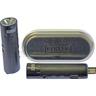 CLIPPER ELECTRONIC POCKET LIGHTER RECHARGABLE BLACK Pack of 1