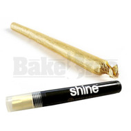 Shine 24k Gold Papers Pre Rolled Cone Unflavored Pack Of 1