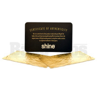 Shine 24k Gold Rolling Papers 1 1/4 2 Per Pack Unflavored Pack Of 1