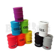 "HIGH TECH GLASS X SKY HIGH CONTAINER OIL BARREL SILICONE 4"" ASSORTED Pack of 1"