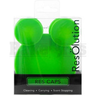 RESOLUTION RES CAPS CLEANING SOLUTION SILICONE FEMALE CAP NONE GREEN Pack of 1