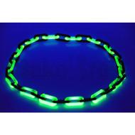 "38"" GLASS CHAIN LINKS UV REACTIVE BLACK & ILLUMINATI BLACK AND ILLUMINATI SINGLE SIZE"