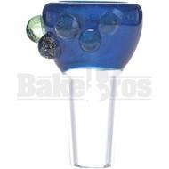 SAN DIEGO BORO GLASS BOWL DOT GRIPS VELVET ELECTRIC BLUE 14MM
