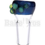 SAN DIEGO BORO GLASS BOWL DOT GRIPS VELVET ELECTRIC BLUE 18MM
