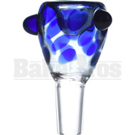 SAN DIEGO BORO GLASS BOWL HONEYCOMB BLUE 14MM