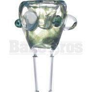 SAN DIEGO BORO GLASS BOWL HONEYCOMB MOSS GREEN 14MM