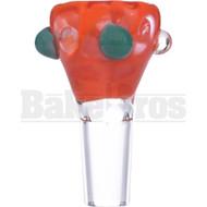SAN DIEGO BORO GLASS BOWL HONEYCOMB ORANGE CREAMSICLE 14MM