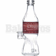 "HIGH TECH WP NUKA COLA FUSION SODA BOTTLE W/ DRUM PERC 9"" RED FEMALE 14MM"