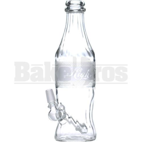 """HIGH TECH WP GREEK CHAIN LINK SODA BOTTLE W/ DRUM PERC 9"""" CLEAR MALE 14MM"""