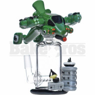 "EMPIRE GLASSWORKS WP GUNSHIP 2 PIECE OIL RIG W/ INLINE PERC 6"" GREEN MALE 14MM"