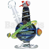 "EMPIRE GLASSWORKS WP ROCKET SHIP PLANETARY OIL RIG 5"" DICHRO SLIME FEMALE 10MM"