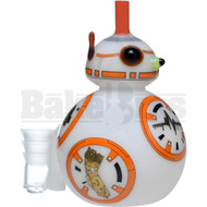 "PULSE GLASS WP RIG DAB DROID 4"" OPAQUE ORANGE WHITE FEMALE 14MM"