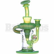 """PHAT ASS GLASS WP KLEIN RECYCLER 9"""" KEY LIME GREEN SLIME STARDUST FEMALE 14MM"""