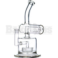 """WP BENT NECK SIDE LINE W/ CIRQ & INLINE PERC 12"""" CLEAR FEMALE 18MM"""