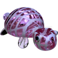 """ANIMAL HAND PIPE GLASS CURIOUS TURTLE 4"""" PINK"""