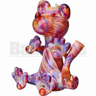 "FLAME PRINCESS GLASS WP MICRO RIG HONEY BEAR 5"" AMBER PURPLE FEMALE 10MM"
