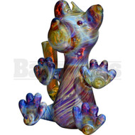 "FLAME PRINCESS GLASS WP MICRO RIG HONEY BEAR 5"" BLUE AMBER PURPLE FEMALE 10MM"