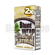 DOUBLE!! PLATINUM CIGAR WRAPS 2 PER PACK FRENCH VANILLA Pack of 25