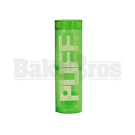 "PUFF WP TRAVELER PORTABLE BUBBLER BOTTLE GLASS ON PLASTIC COMPLETE KIT 8"" GREEN FEMALE 10MM"