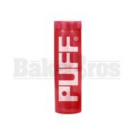 """PUFF WP TRAVELER PORTABLE BUBBLER BOTTLE GLASS ON PLASTIC COMPLETE KIT 8"""" RED FEMALE 10MM"""