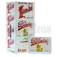 BAMBU PURE HEMP CIGARETTE PAPER UNFLAVORED Pack of 24