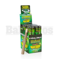 CYCLONES HERBIES SAGE MEAN GREEN PRE ROLLED CONES 1 PER TUBE WITH 1 REUSABLE DANK7 TIP NATURAL Pack of 24