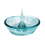 "DEBOWLER GLASS ASHTRAY 5"" TURQUOISE"