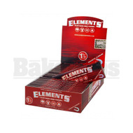 ELEMENTS RED SLOW BURN HEMP ROLLING PAPERS 1 1/4 50 LEAVES UNFLAVORED Pack of 25
