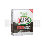 HERBAL CLEAN QCAPS MAXIMUM STRENGTH CLEANSING FORMULA CONCENTRATED CAPSULES NONE 4 CAPSULES