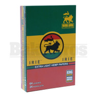 IRIE EXTRA LIGHT HEMP PAPERS KING SIZE 64 LEAVES UNFLAVORED Pack of 24