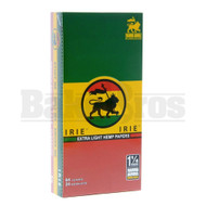 IRIE EXTRA LIGHT HEMP PAPERS 1 1/4 64 LEAVES UNFLAVORED Pack of 24