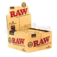 RAW CLASSIC ROLLING PAPERS W/ PRE-ROLLED TIPS CONNOISSEUR KING SIZE SLIM 50 LEAVES UNFLAVORED Pack of 24