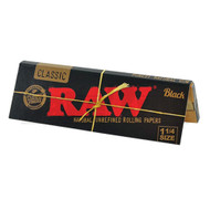 RAW BLACK CLASSIC ROLLING PAPERS 1 1/4 50 LEAVES UNFLAVORED Pack of 1