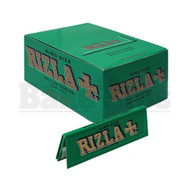 RIZLA GREEN MEDIUM THIN ROLLING PAPER KING SIZE 32 LEAVES UNFLAVORED Pack of 50